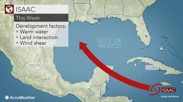 Isaac to attempt to restrengthen before reaching the Gulf of Mexico
